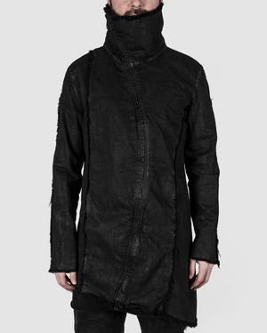 La haine inside us - Coated highneck jacket - https://stilett.com/