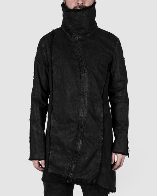 La Haine - Coated high neck jacket