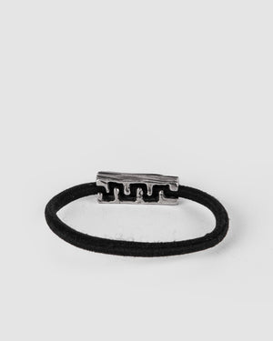 Gaspard Hex - Bark elastic hairband with a black diamond - https://stilett.com/
