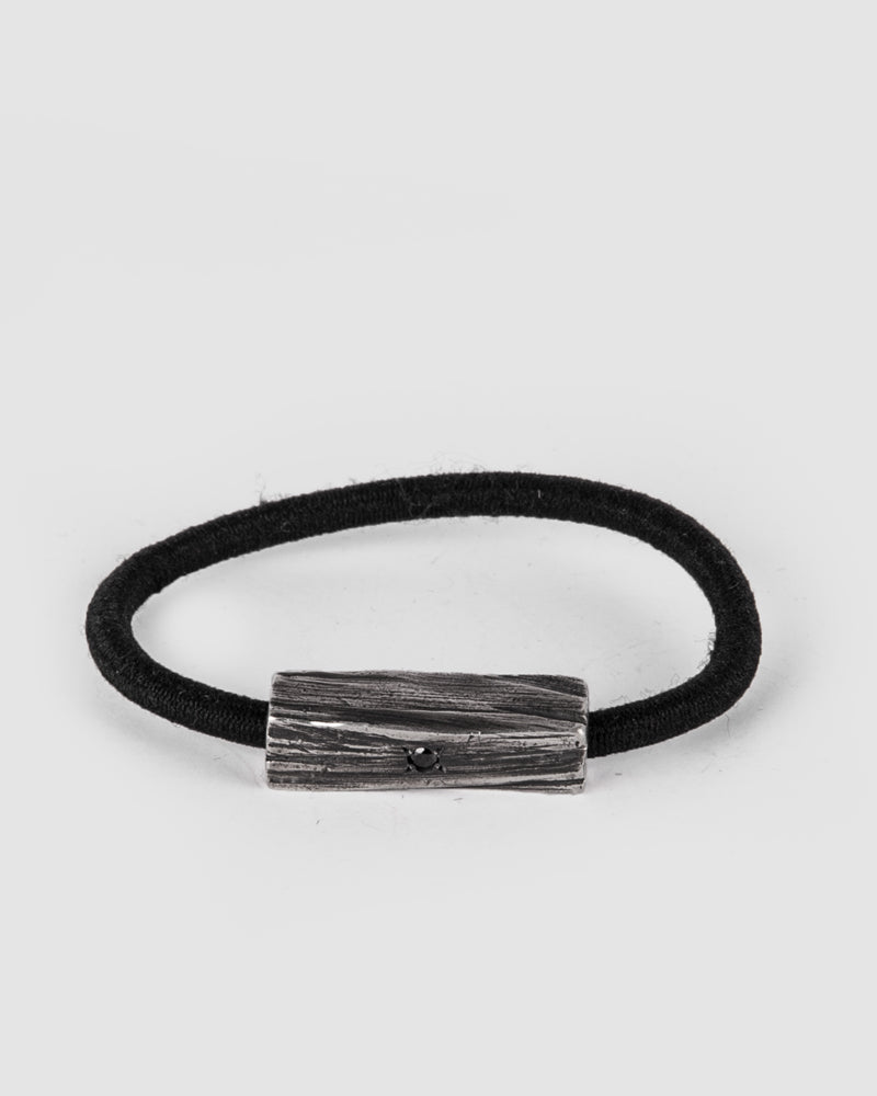 Gaspard Hex - Bark elastic hairband with a black diamond - Stilett.com
