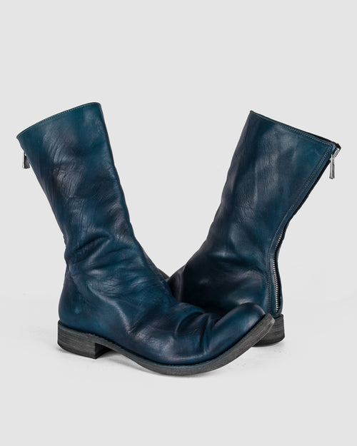 Atelier Aura - AAEB01 back zip tall boot - Ocean Blue