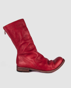 Atelier Aura - AAEB01 back zip tall boots - Chili Red - https://stilett.com/