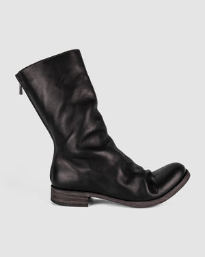 Atelier Aura - AAEB01 back zip tall boots - Jet Black - https://stilett.com/