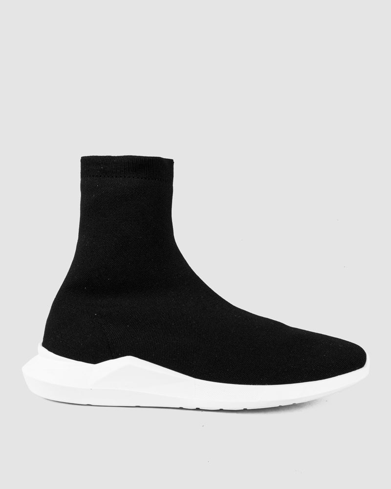 Difficult By P - High-top stretch knit sneakers - Limited edition - Stilett.com