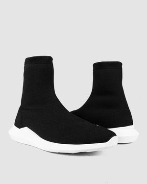 Difficult By P - High-top stretch knit sneakers - Limited edition - https://stilett.com/