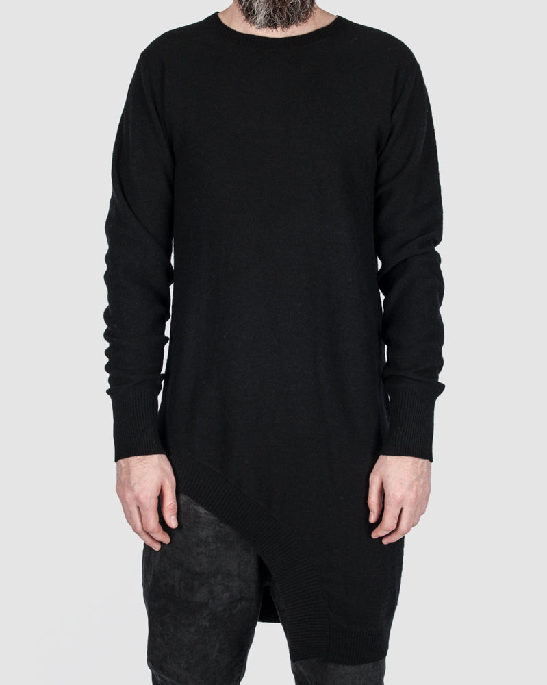 First aid to the injured - Asymmetric wool blend pullover - Stilett.com