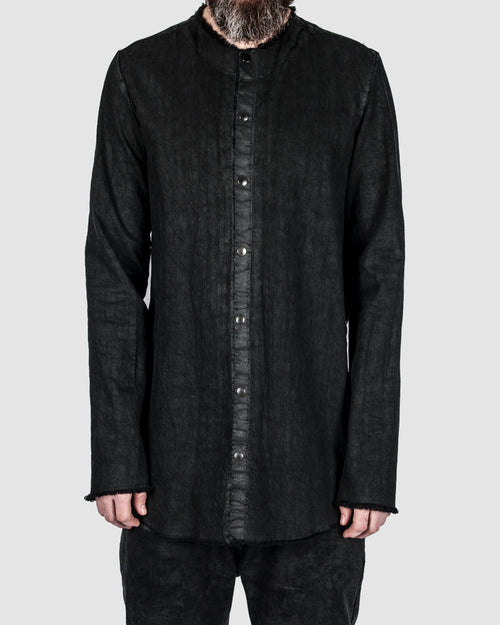Coated button up shirt