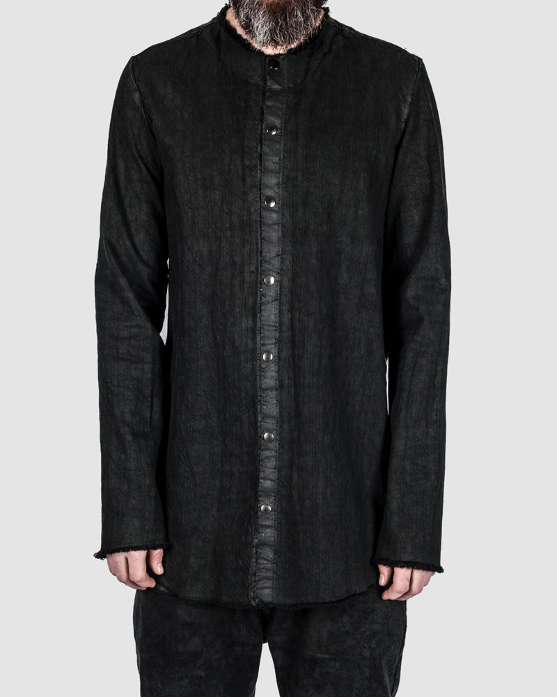 La haine inside us - Coated button up shirt - https://stilett.com/