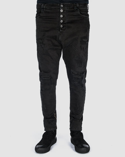 La haine inside us - Distressed slimfit pants - Stilett.com
