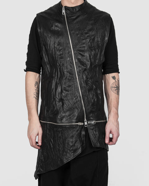 La haine inside us - Leather vest - Stilett.com