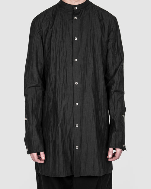 La haine inside us - Long trench shirt black - Stilett.com