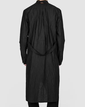 La haine inside us - Long trench shirt black - https://stilett.com/