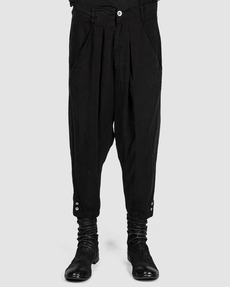 La haine inside us - Metal button drop crotch pants - https://stilett.com/