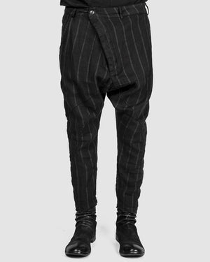 La haine inside us - Striped drop pants - https://stilett.com/