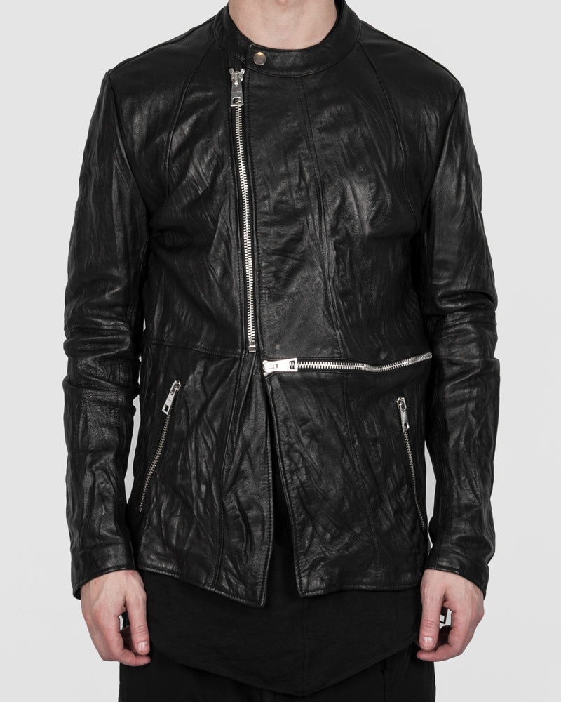 La haine inside us - Zip leather jacket - https://stilett.com/