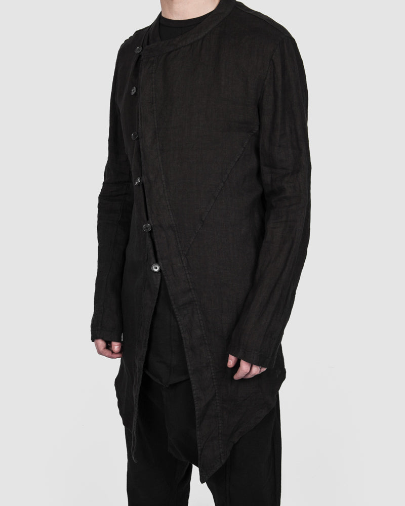 La haine inside us - Asymmetric button blazer - Stilett.com