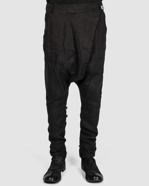 La haine inside us - Back zipped drop pants - Stilett.com