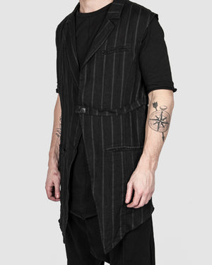 La haine inside us - Long striped vest - https://stilett.com/