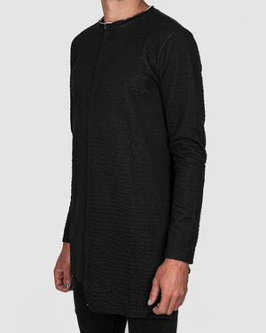 La haine inside us - Asymmetric contrast cotton sweater - https://stilett.com/
