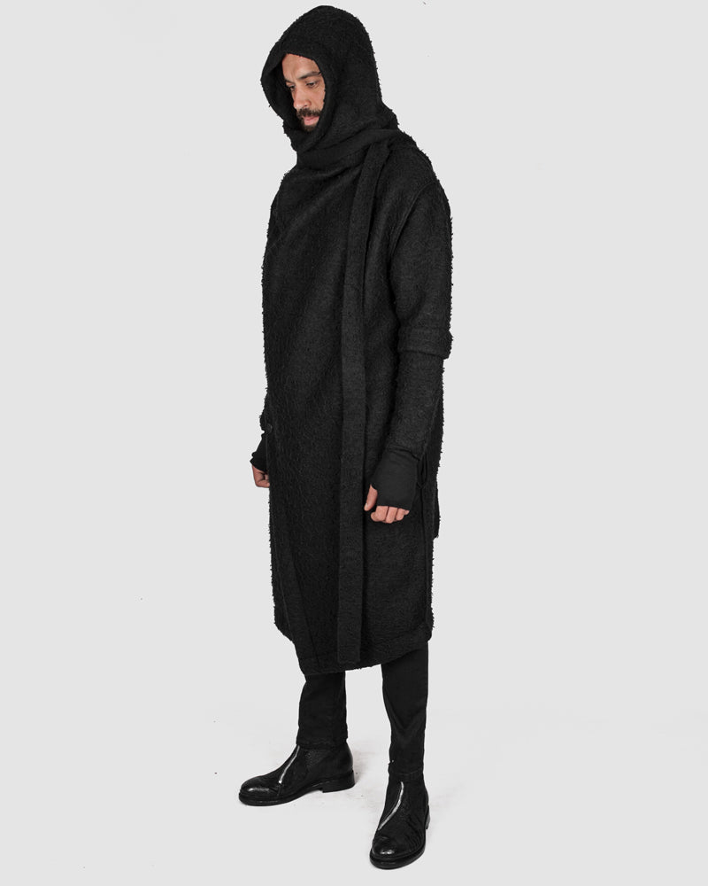 La haine inside us - Asymmetric hooded coat - Stilett.com