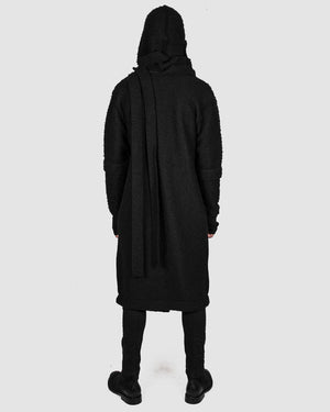 La haine inside us - Asymmetric hooded coat - https://stilett.com/