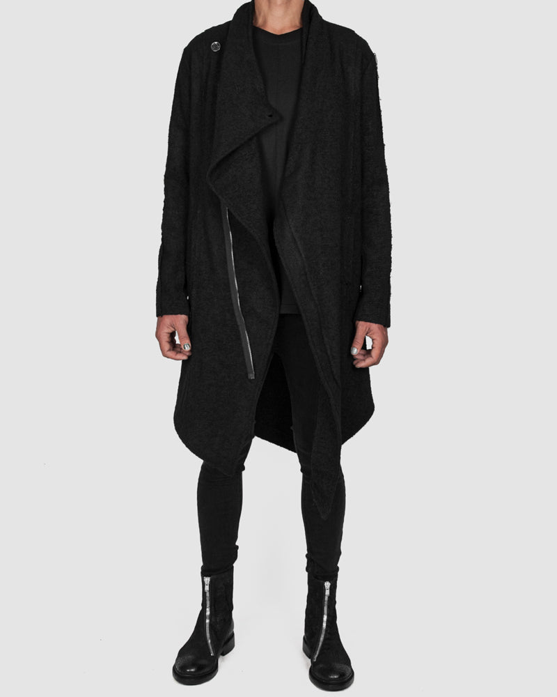 La haine inside us - Asymmetric unlined coat - Stilett.com