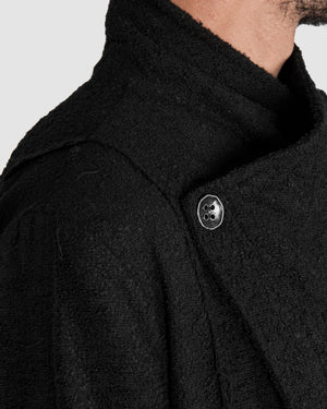 La haine inside us - Asymmetric unlined coat - https://stilett.com/