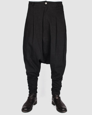 La haine inside us - Buttoned drop pants - https://stilett.com/