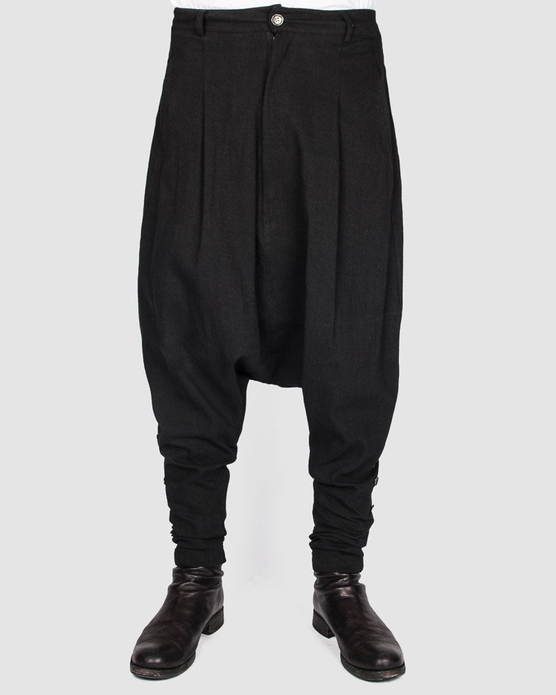 La haine inside us - Buttoned drop pants - Stilett.com