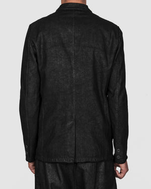 La haine inside us - Laminated buttoned stretch jacket - https://stilett.com/