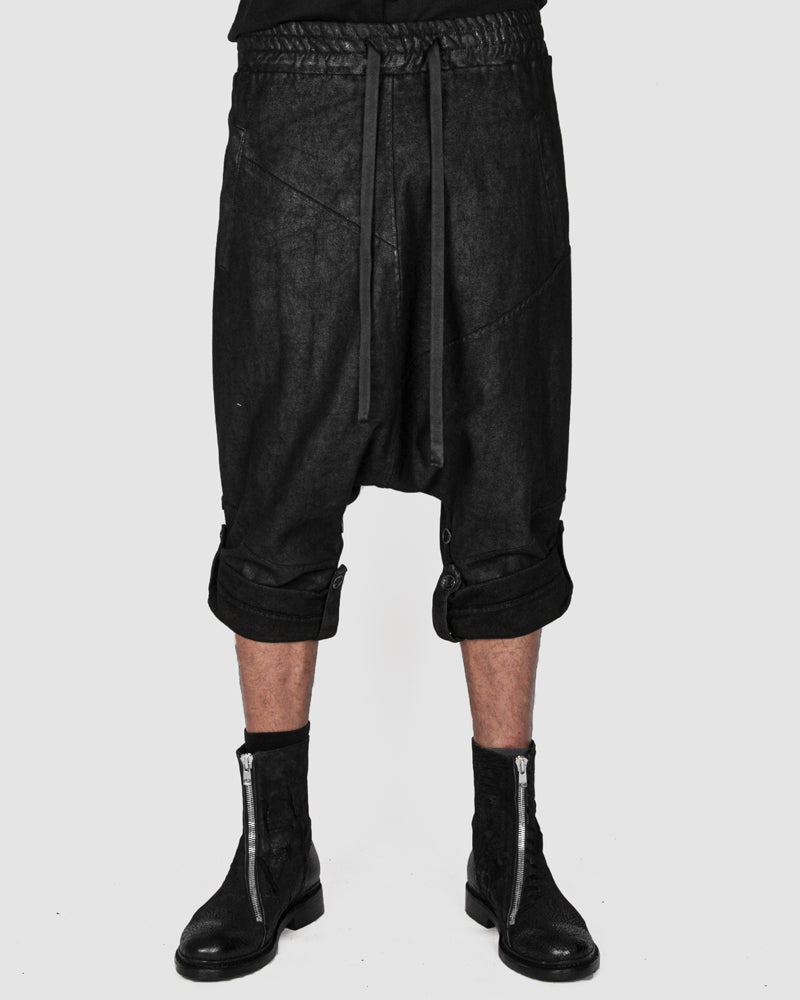 La haine inside us - Laminated low crotch trousers - Stilett.com