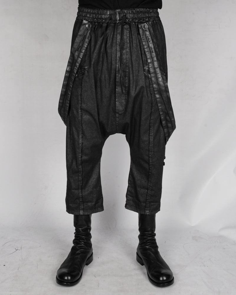 La haine inside us - Laminated suspender trousers - Stilett.com