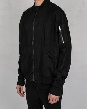 La haine inside us - Linen bomber jacket - https://stilett.com/