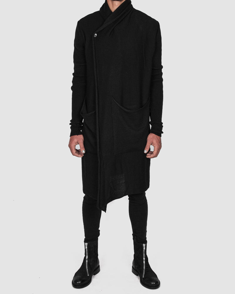 La haine inside us - Long knit cardigan black - https://stilett.com/