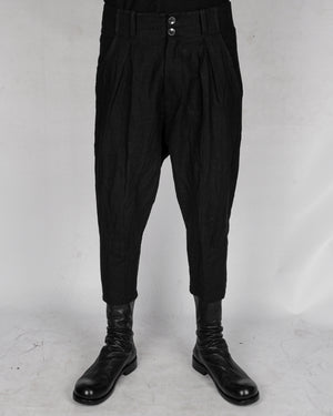 La haine inside us - Low crotch linen trousers - https://stilett.com/