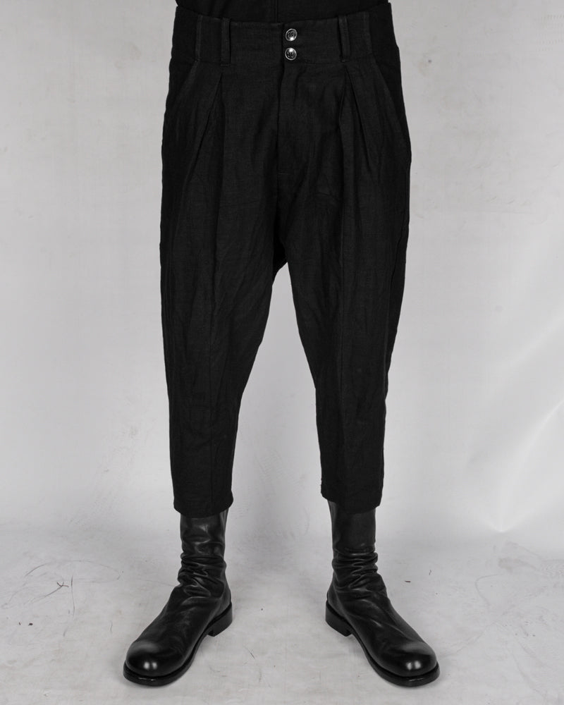 La haine inside us - Low crotch linen trousers - Stilett.com