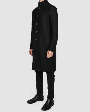 La haine inside us - Metal button wool coat - https://stilett.com/