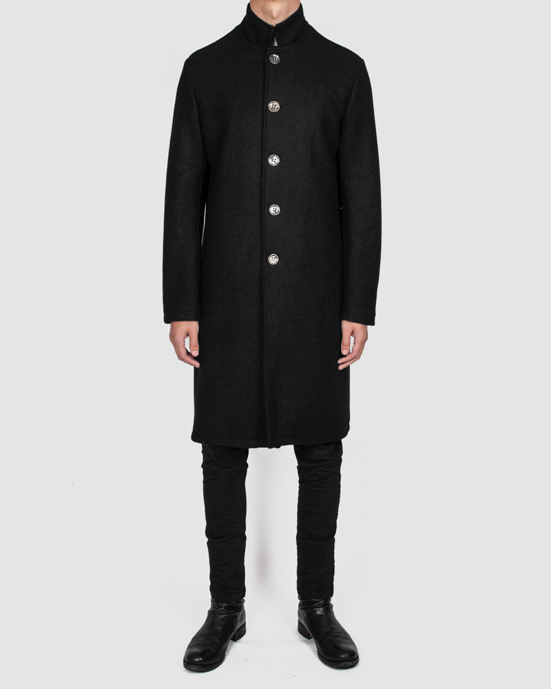 La haine inside us - Metal button wool coat - Stilett.com