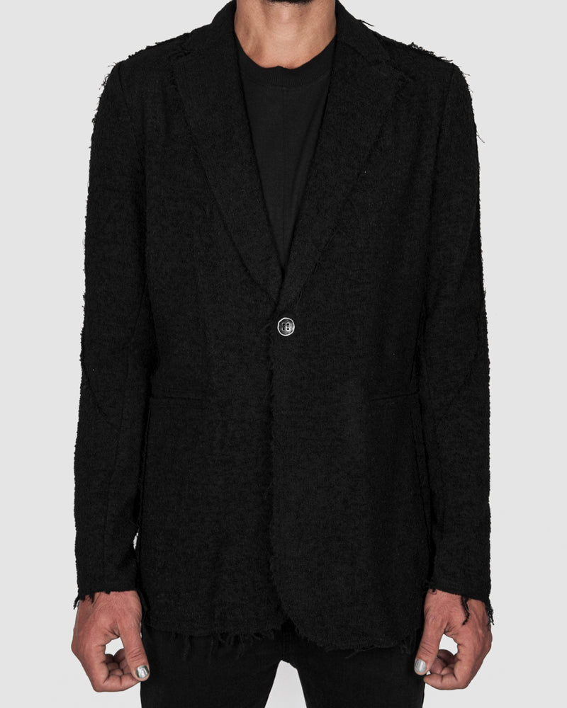 La haine inside us - One buttoned unlined jacket - https://stilett.com/
