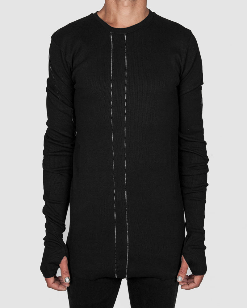 La haine inside us - Ribbed contrast seam sweater - Stilett.com