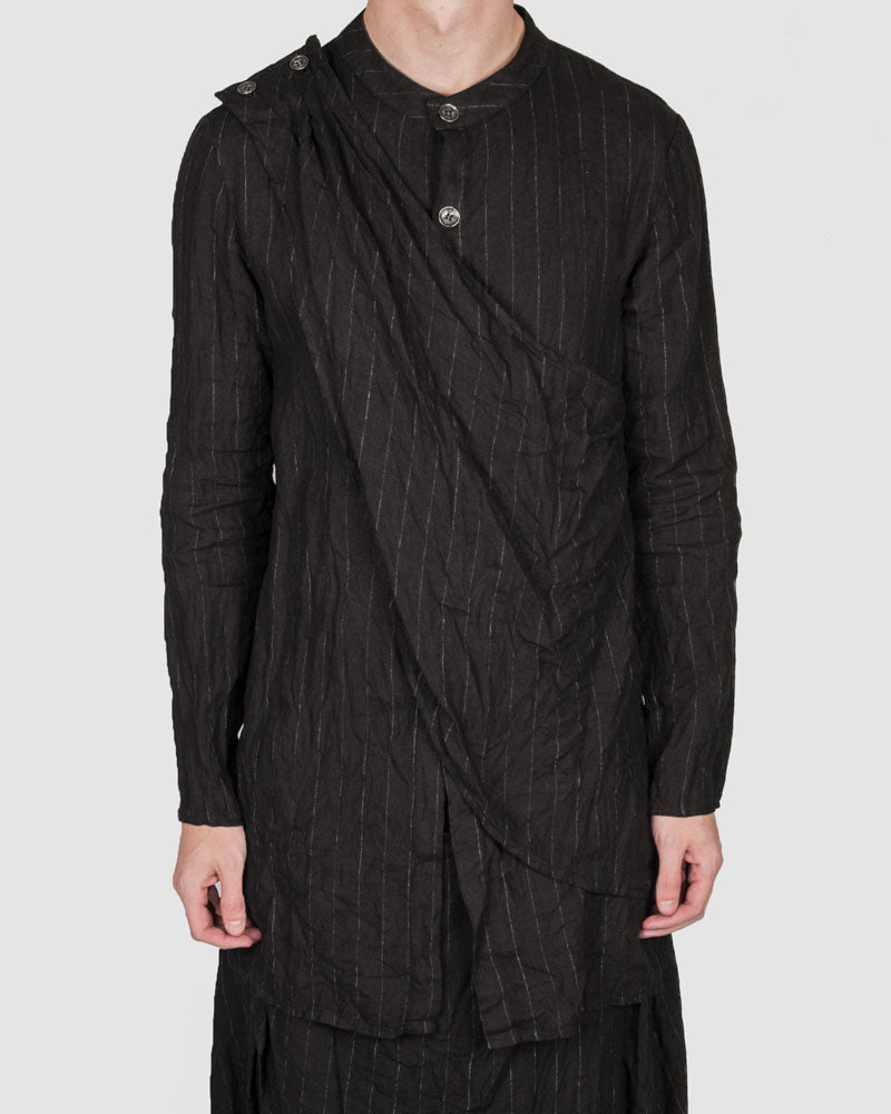 La haine inside us - Striped panelled shirt - Stilett.com