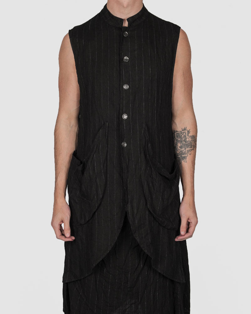 La haine inside us - Striped pocket vest - Stilett.com