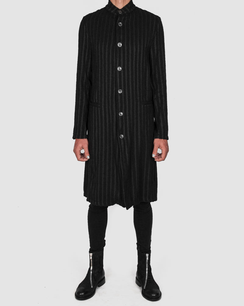 La haine inside us - Striped unlined coat - Stilett.com