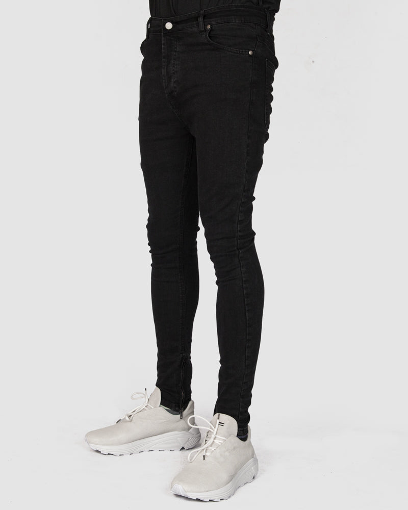 La haine inside us - Super skinny black jeans - Stilett.com