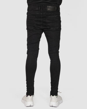 La haine inside us - Super skinny black jeans - https://stilett.com/