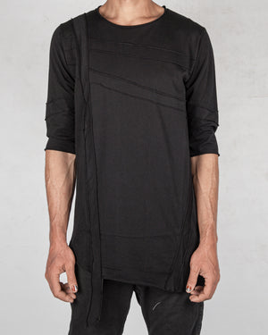 La haine inside us - Asymmetric band tshirt black - https://stilett.com/