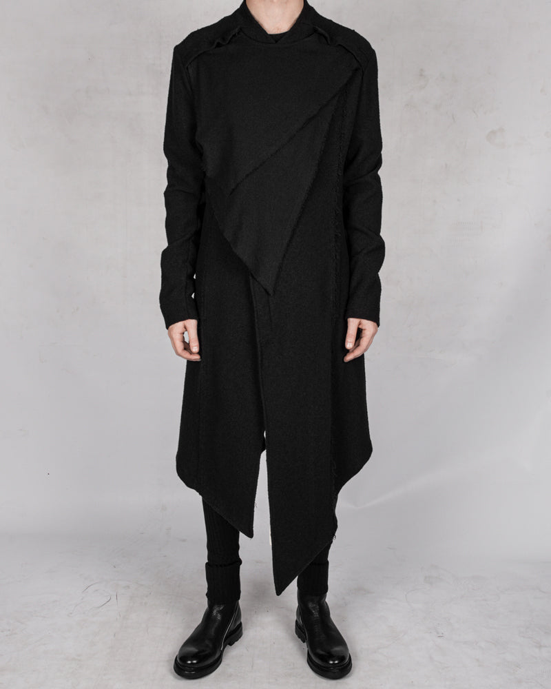 La haine inside us - Asymmetric cotton coat - Stilett.com