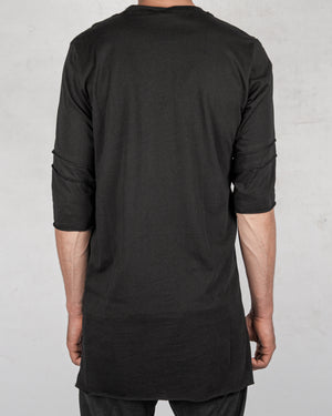 La haine inside us - Asymmetric reverse seam tshirt black - https://stilett.com/