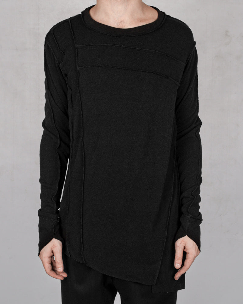 La haine inside us - Asymmetric stretch jersey sweater - Stilett.com