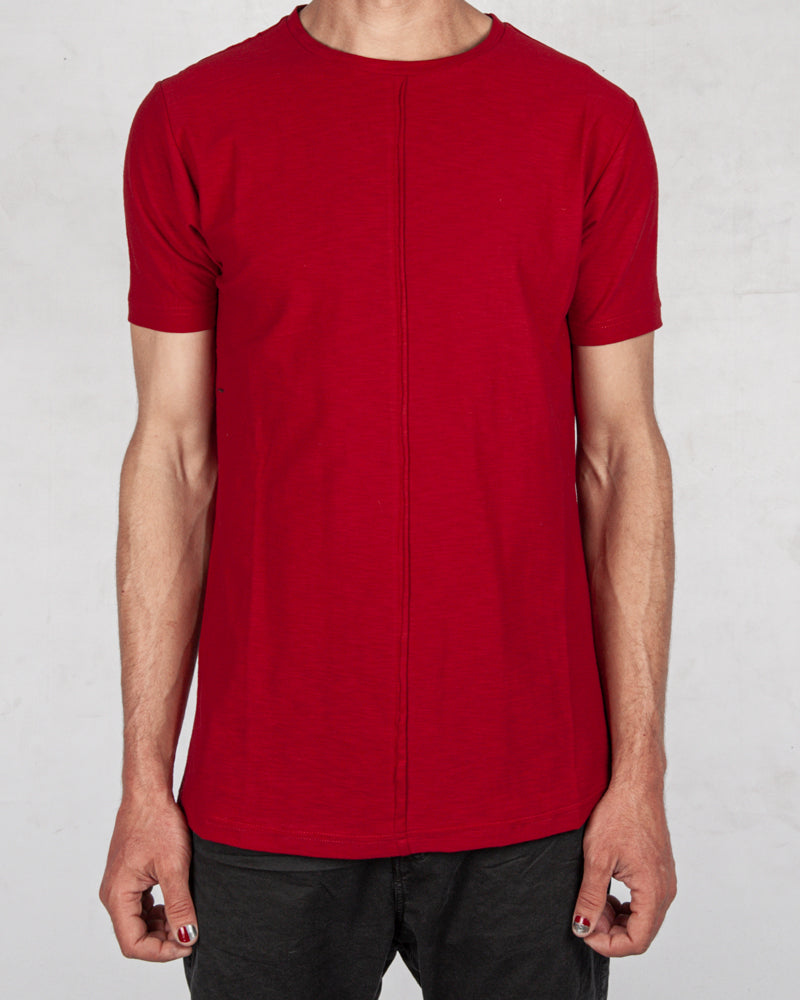 Xagon - Flammed cotton tshirt red - Stilett.com